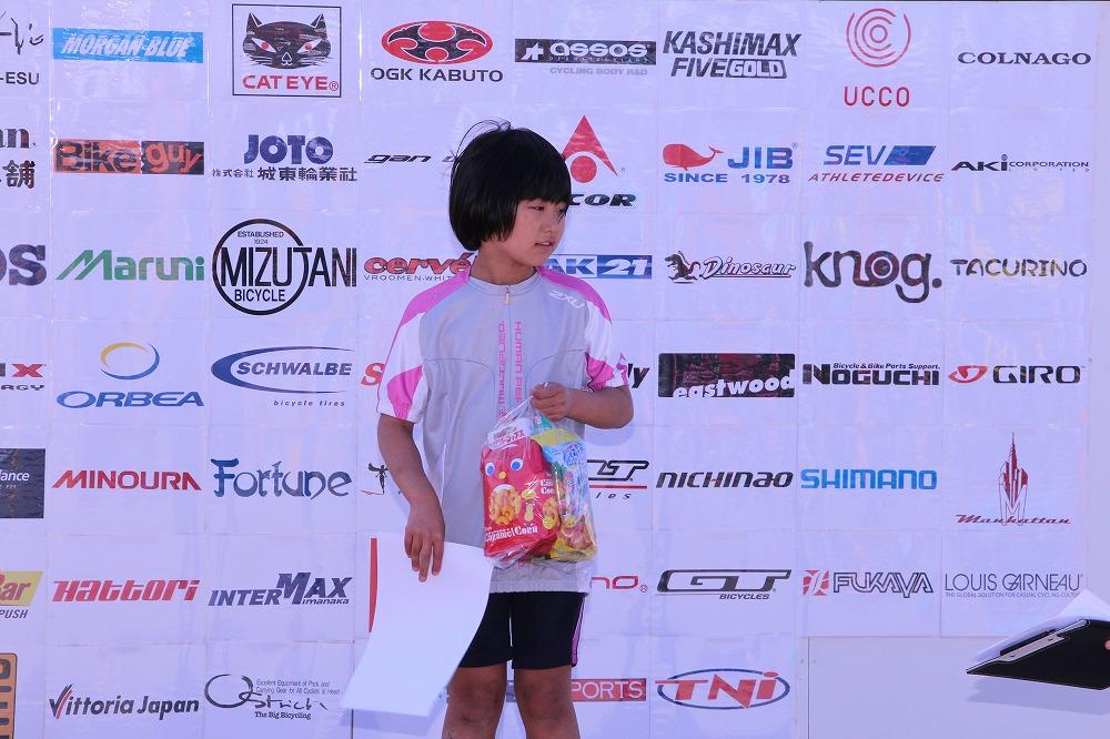 小学1~2年生の部 女子 スポーツ自転車 表彰式