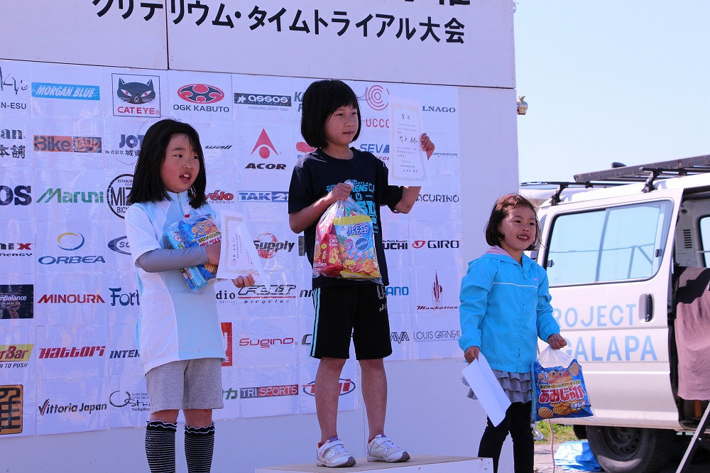 小学1~2年生の部 女子 ノーマル自転車 表彰式