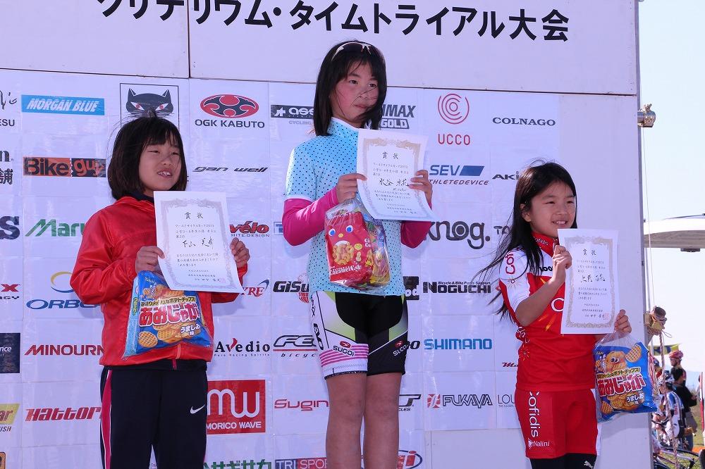 小学3~4年生の部 女子 スポーツ自転車 表彰式