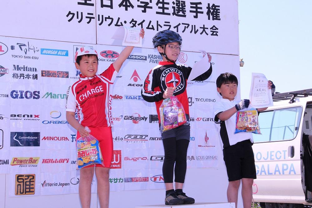 小学3~4年生の部 男子 ノーマル自転車 表彰式