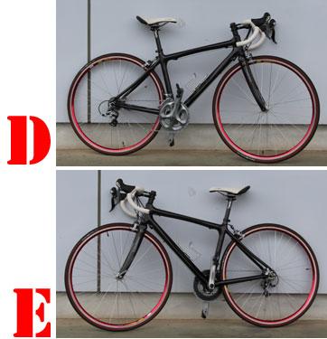自転車の立て掛け方