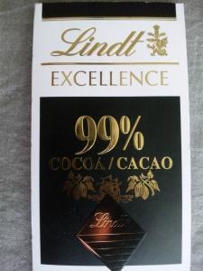 カカオ99%のチョコレート。