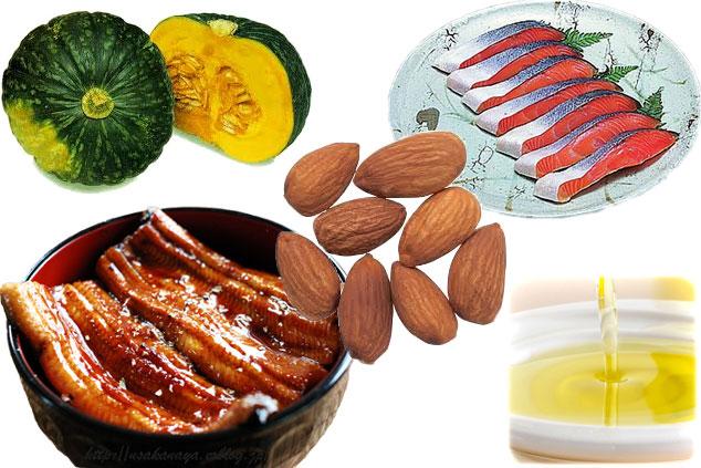 ビタミンEを多く含む食材