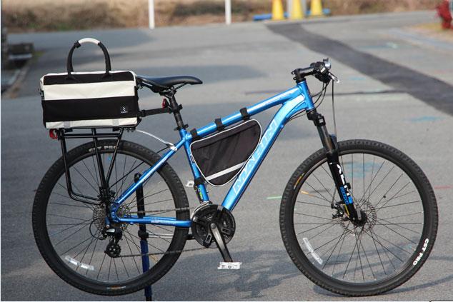 自転車通勤 リアキャリアバッグ