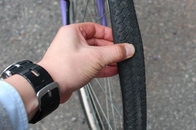 自転車の空気圧管理