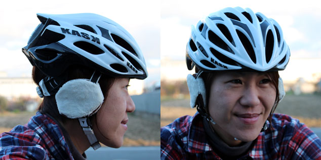 OGKカブト マフロン チャイルドヘルメット用防寒耳あて