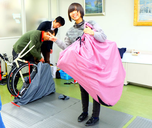 R250 輪行袋 輪行教室