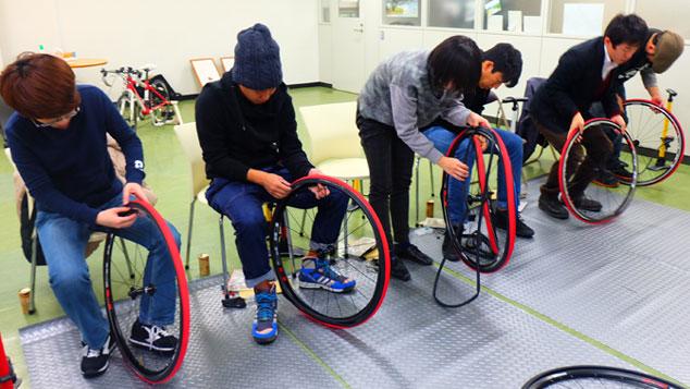 パンク修理講座 自転車教室