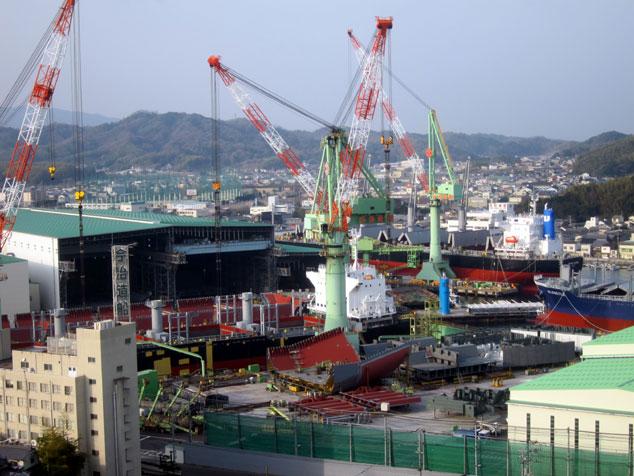 しまなみ海道 来島海峡大橋 造船所