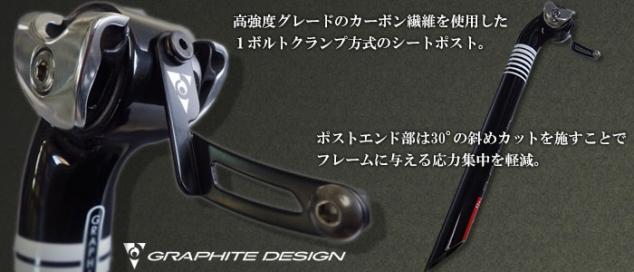 グラファイトデザイン Standard Post GD Stripe ナンバーホルダー付