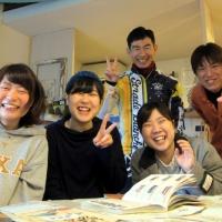 東京からしまなみ海道を走りに来た女子大生達