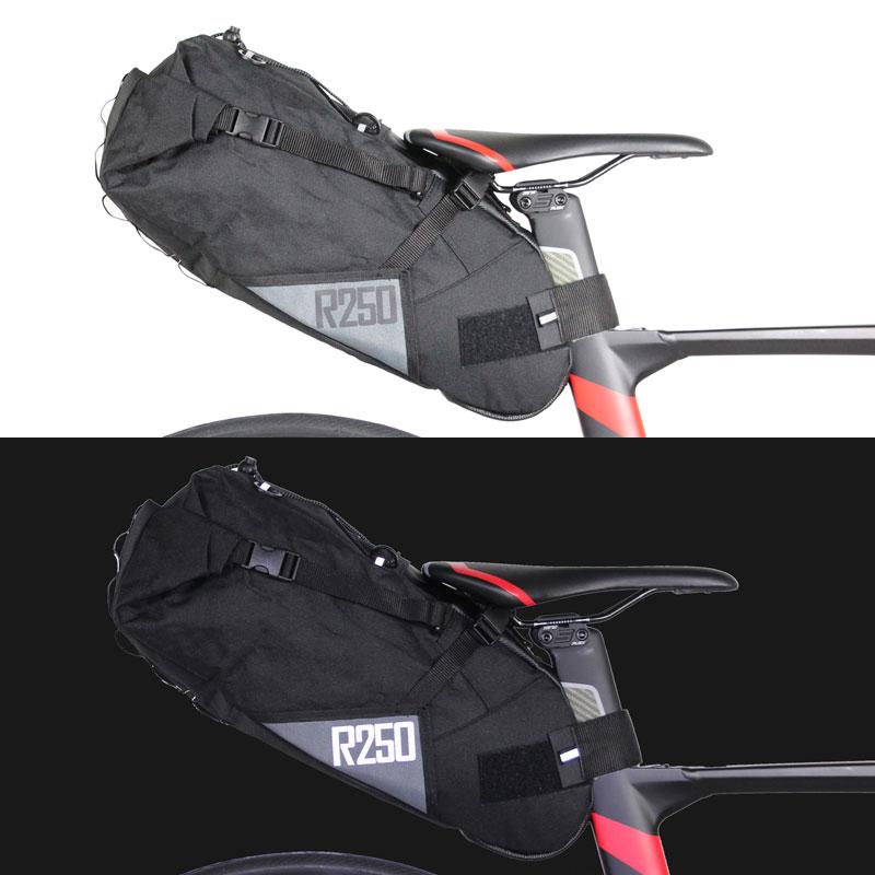 r250 バイクパッキング 大型サドルバッグ