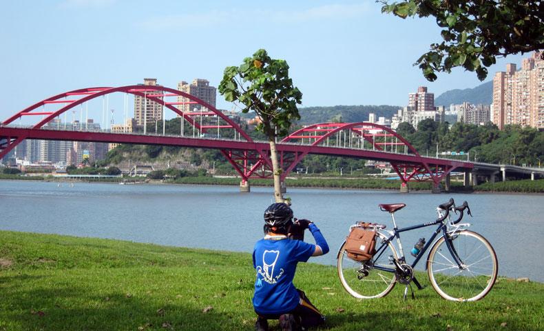 淡水 台北 サイクリングロード