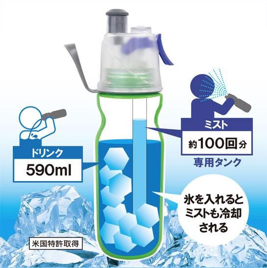 ミスト噴射機能付ボトル ドリンクミスト
