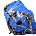 縦型輪行袋の外側からリアエンド金具がどこにあるか見つける方法。