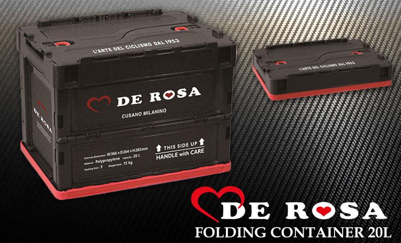 デローザ FOLDING CONTAINER 20L ブラック