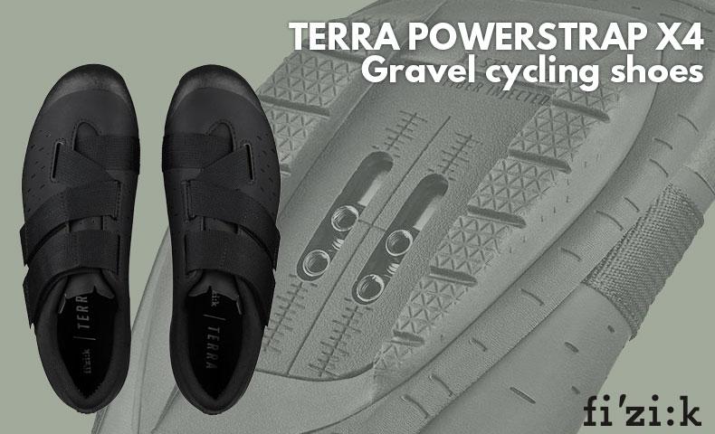 フィジーク X4 TERRA POWERSTRAP ブラック/ブラック シューズ