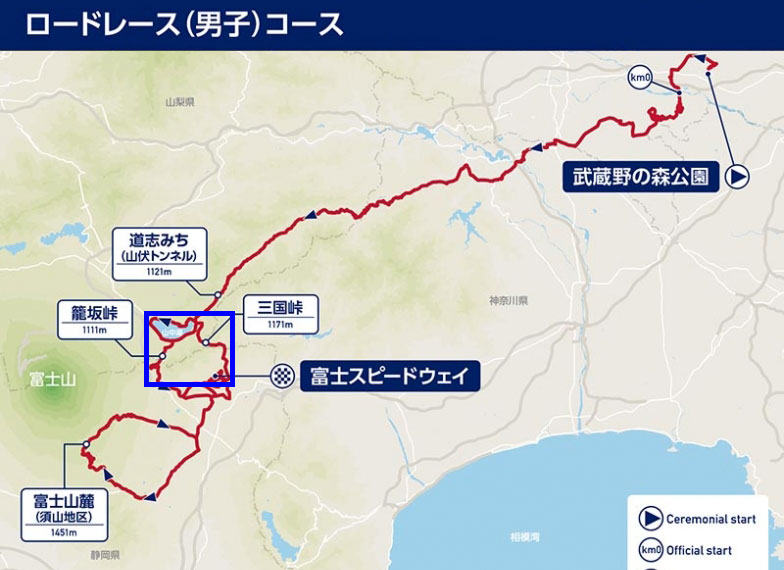 東京五輪ロードレースコース