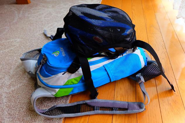 *ドイターのバイク用バックパックなのにヘルメットホルダーが付属していなんて。さぁどうする?